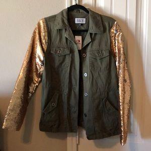BKE green sequin jacket